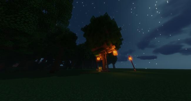 SprookjesCraft boomhut buiten de map