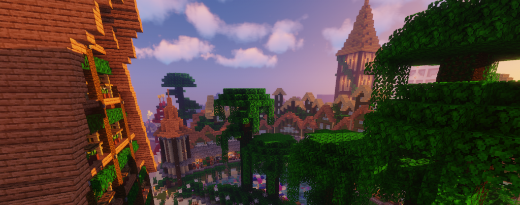 Zwembad Jungle-Town op MineCraft Custom Pretpark ShowCraft
