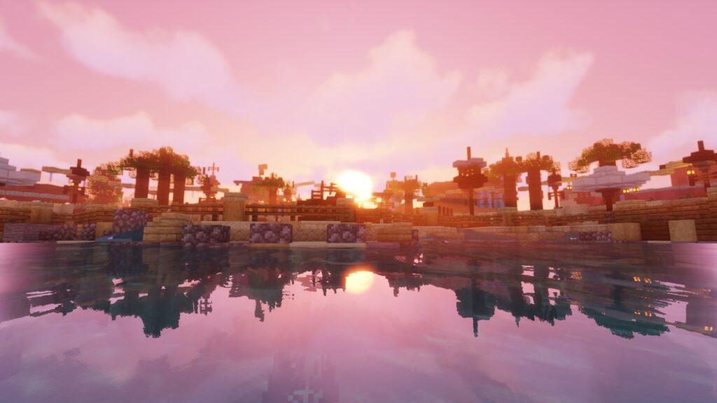Wereld Port Laguna op Minecraft Pretpark ToverCraft (Toverland)