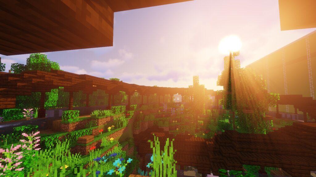 Attractie Maximus' Blitz Bahn op Minecraft Pretpark ToverCraft (Toverland)