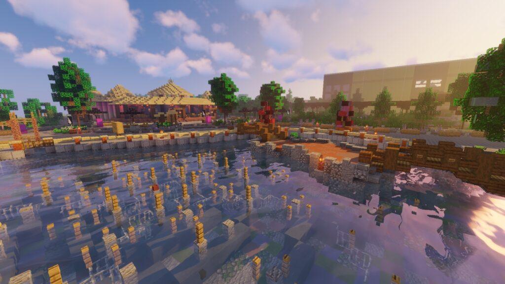 Watershow Katara, Fountain of magic, op Minecraft Pretpark ToverCraft (Toverland)
