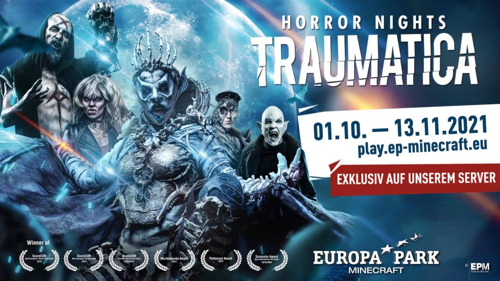 Die Horror Nights – Traumatica sind zurück im EuropaPark-Minecraft!