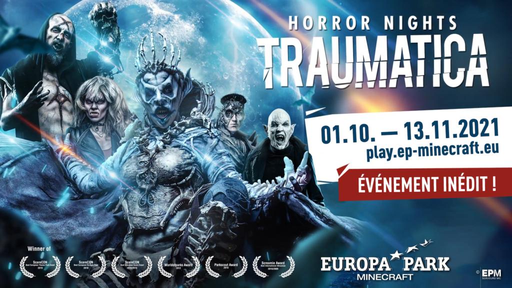 Les Horror Nights – Traumatica sont de retour sur EuropaPark-Minecraft!