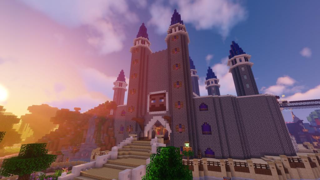 Kasteel op Minecraft Pretpark ShowCraft