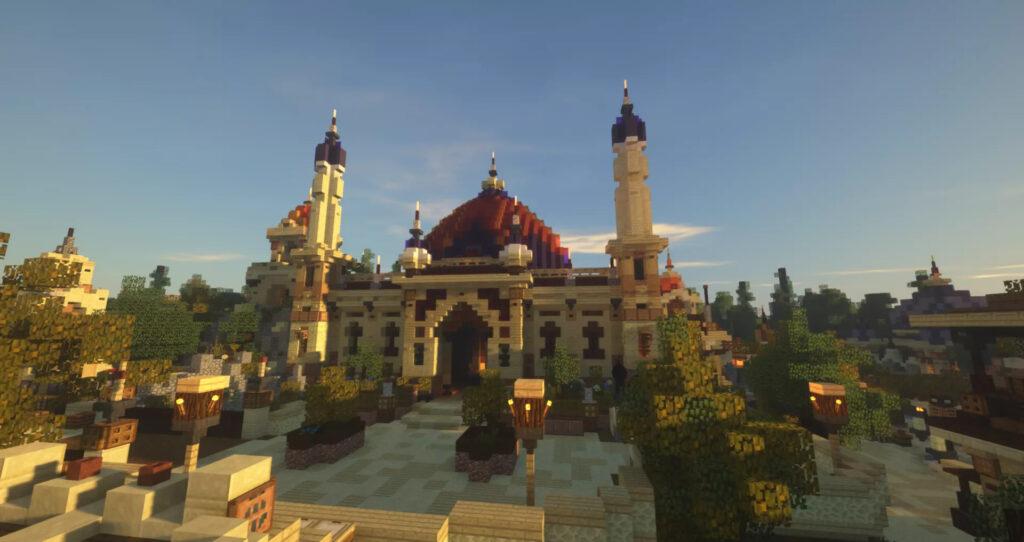 Gebied Arabian op Minecraft Pretpark Valenturia