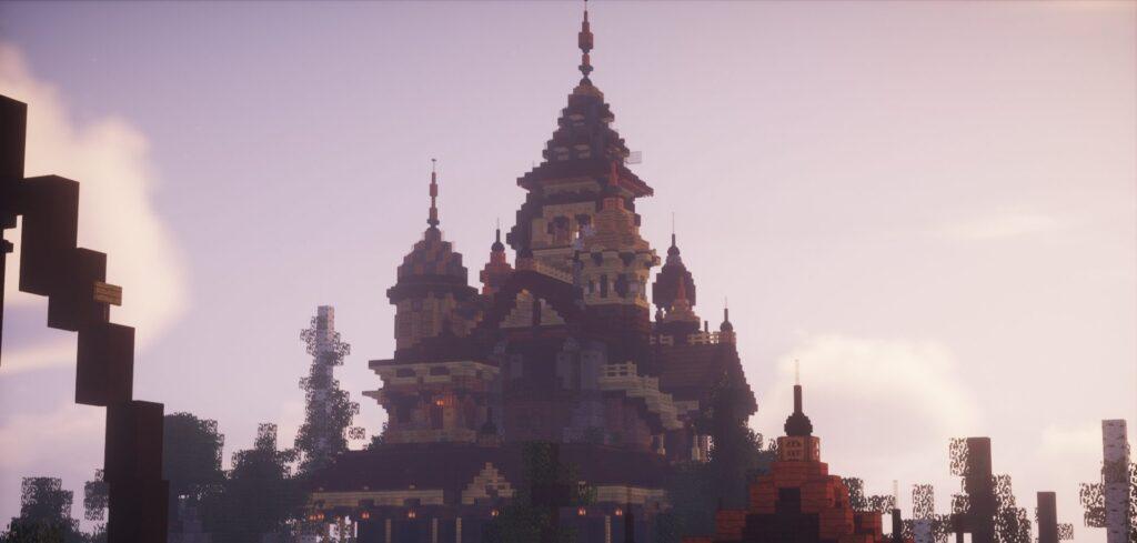 Gebied China op Minecraft Pretpark Valenturia