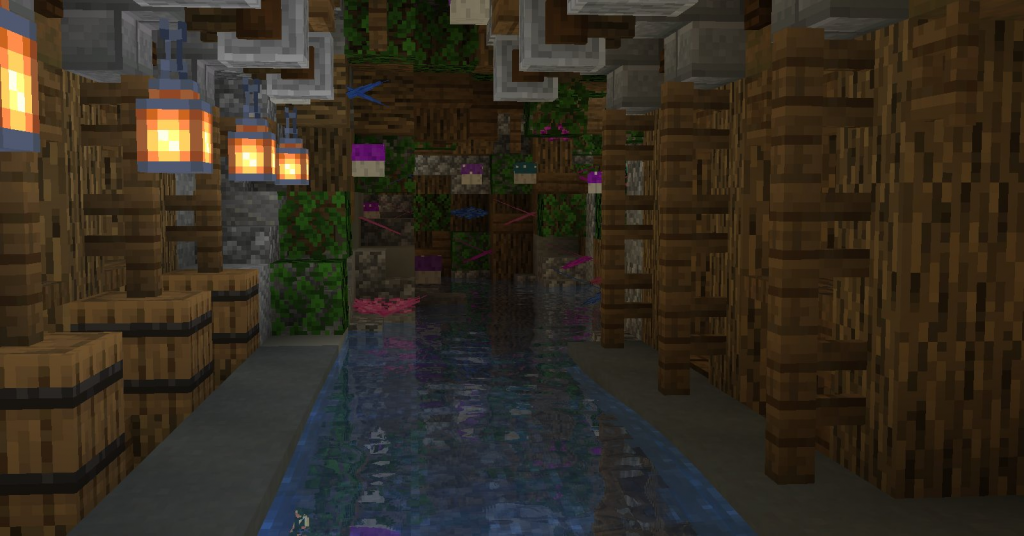 Enchanted Streams on Minecraft Custom Themepark Kw6Craft