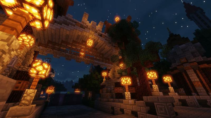 Gebied Tyronia op Minecraft Pretpark FantasyWorld