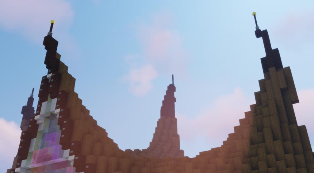 Ingang Huis van de Vijf Zintuigen op Minecraft Pretpark ReizenCraft (Efteling)