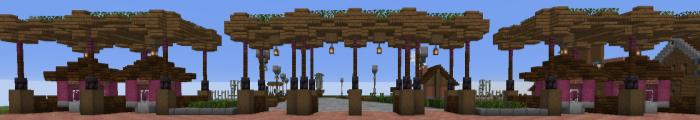 Minecraft Pretpark Pixel Gardens (Custom park)