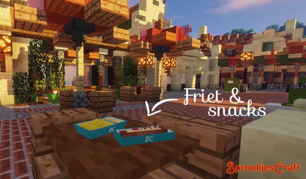 Friet & Snacks op Minecraft Pretpark SprookjesCraft (Efteling)