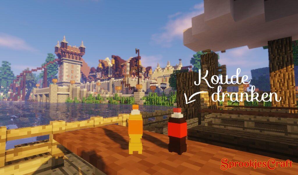Koude dranken op Minecraft Pretpark SprookjesCraft (Efteling)
