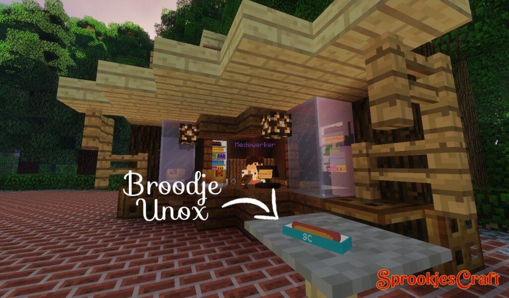 Broodje Unox op Minecraft Pretpark SprookjesCraft (Efteling)