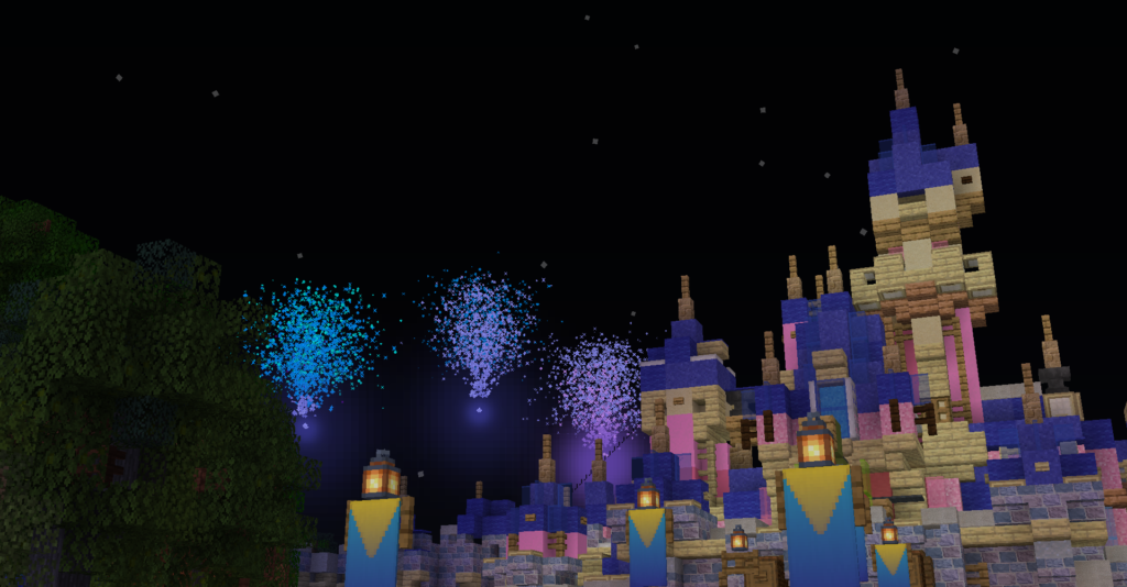 Fireworks show Halloween Screams at The Amuse Network