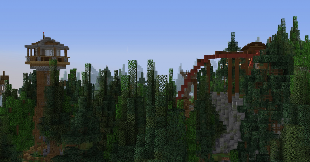 The Forgotten Forest expansion on Minecraft Custom Themepark Kw6Craft