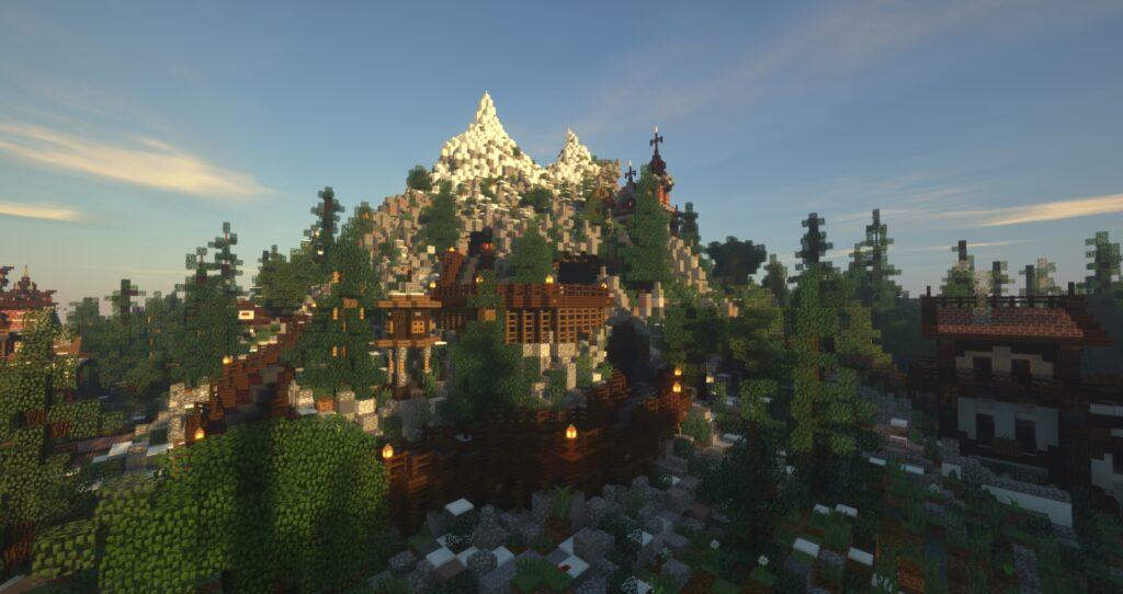 Gebied Zwitserland (Tirol) op Minecraft Pretpark Valenturia