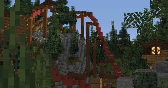 Trailblazer on Minecraft Custom Themepark Kw6Craft